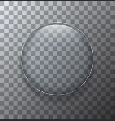 modern transparent circle glass plate vector image