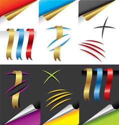 paper design elements vector image vector image