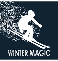 Skier -Winter Magic vector image vector image