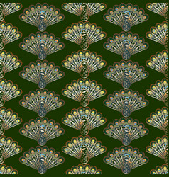 stylized peacocks seamless pattern vector image vector image