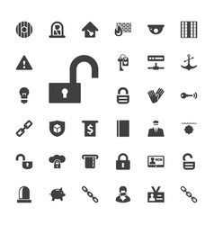 33 security icons vector