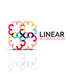 Abstract flower or star linear thin line icon vector