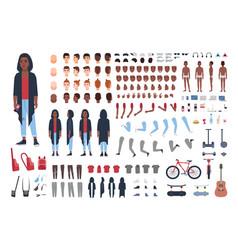African american teenage boy constructor vector