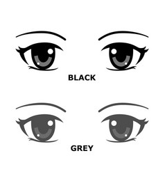 Anime or manga style eyes with sparkling light vector