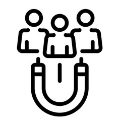 Attract candidates icon outline style vector