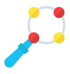 baby rattle toy flat icon kid and shake vector image