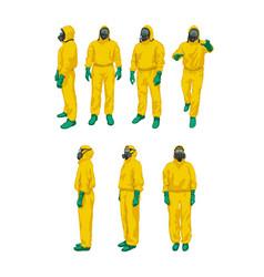 Biohazard set on white vector