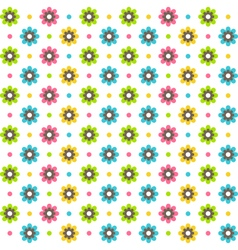 Bright fun abstract seamless pattern with flowers vector image