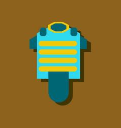 Bulletproof vest icon in sticker style stock vector