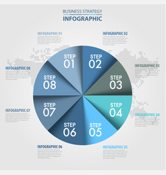 business infographics circle chart design vector image
