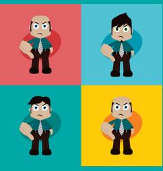 businessman manager at work thumb down cartoon art vector image
