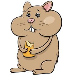 Cartoon hamster comic animal character vector