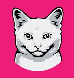 Cat head icon anima vector