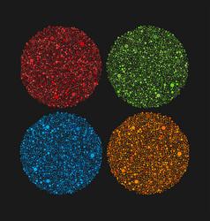 colorful bubbles circles random dots dots sphere vector image