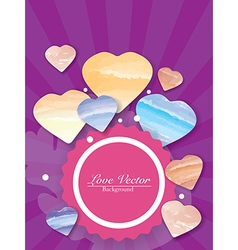 Colorful Love Hearts Background vector image