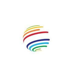 colorful wire world logo icon vector image