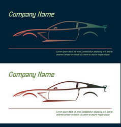 company logo icon element template car vector image