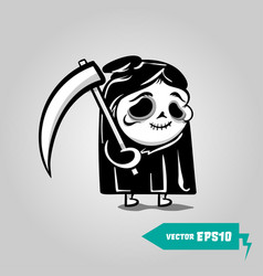 cute death with a scyhelloween sticker vector image