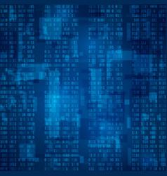 Cyberspace stream of blue binary code futuristic vector