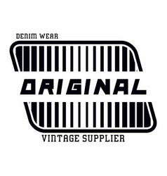 Denim wear original vector