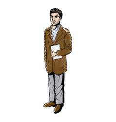 doctor professional holding clipboard and vector image vector image