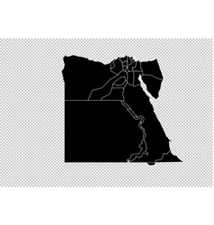 Egypt map - high detailed black map with vector