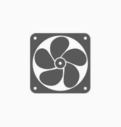 Exhaust fan icon vector