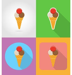 fast food flat icons 08 vector image