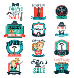 father day sale sign clipart vector image
