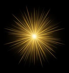 Festive frame with shining star on a dark vector