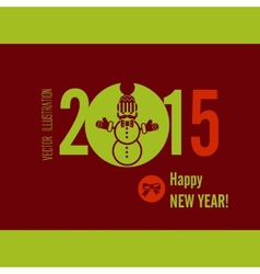 Flat Design Concepts For Happy New Year vector image