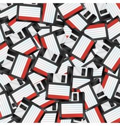 Floppy disks background vector