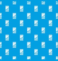 flute pan pattern seamless blue vector image
