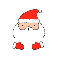 Funny isolated santa claus in vector