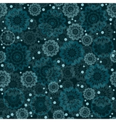 Geometric seamless floral pattern vector