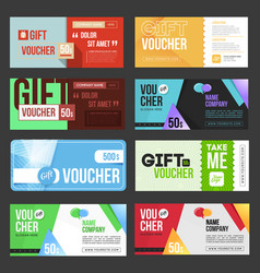 gift voucher certificate coupon vector image