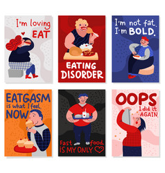 gluttony cards set vector image