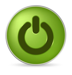 green on off icon vector image