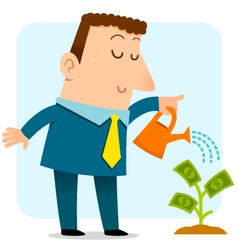 growing money vector image
