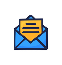 hand drawn mail icon symbol for website design vector image