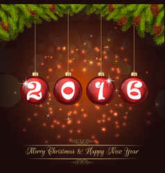 Happy new year for 2016 background vector