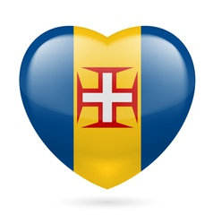 Heart icon of Madeira vector