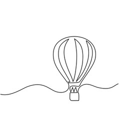 hot air balloon sign vector image