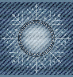 Jeans snowflake vector