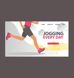 jogging at morning and running man web vector image