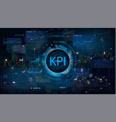 key performance indicator kpi vector image