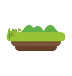 landscape icon Nature design graphic vector image