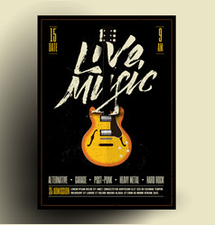 live music poster flyer vector image
