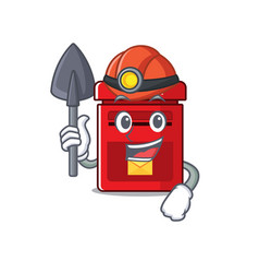 Mailbox with a miner mascot vector