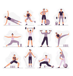 man sport activities strong guy in sport outfit vector image